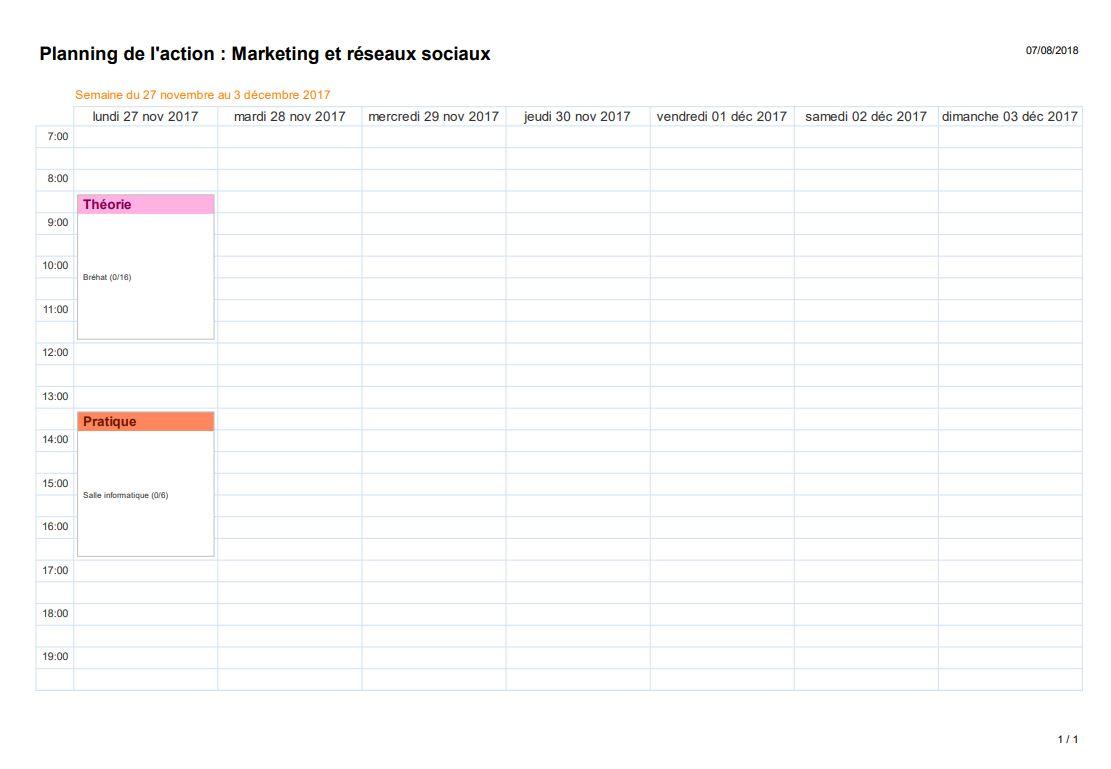 Planning individuel formateur