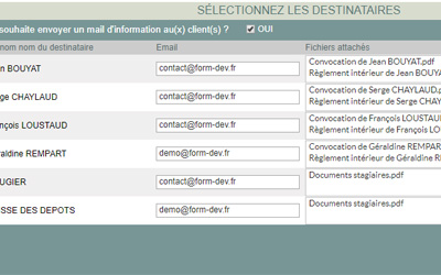 Convocation stagiaires