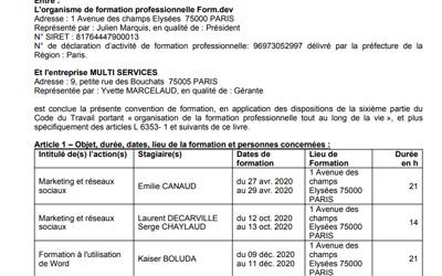 Documents personnalisés
