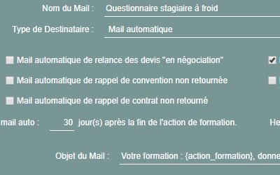 mails automatiques