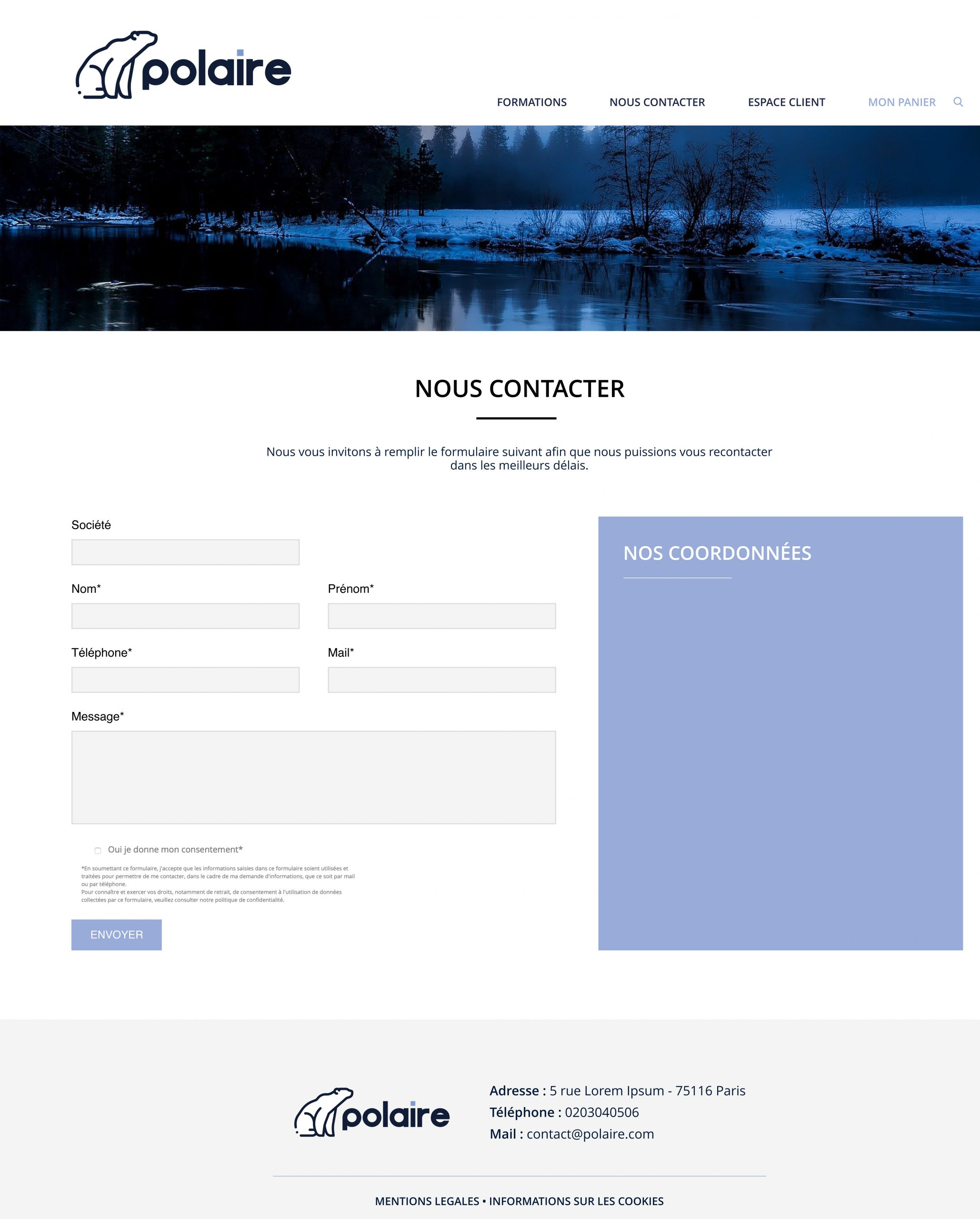 Fiche contact site formations