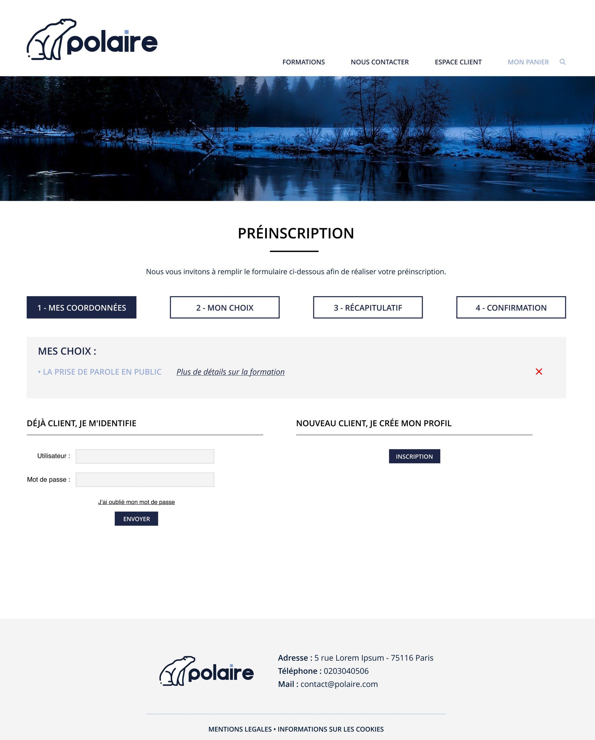 Inscription en ligne formation