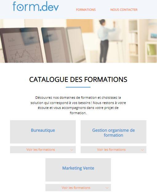 Exemple site catalogue